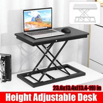 50cm Height Adjustable Standing Desk Sit to Stand Foldable Lift Converter Laptop Desk Tabletop Workstation for Monitor Laptop