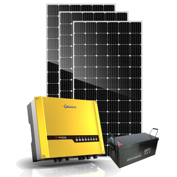 Solar energy 5kw hybrid solar panel with battery