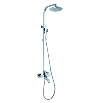 Brass Shower Mixer Rainfall Head Shower Set