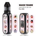 Crayon Shinchan Weave Snake Money Dollar PVC Vape Sticker Skin Pod Film Case Cover Wrap for OBS Cube