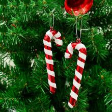 2020 6 Pcs Christmas Candy Cane Ornaments Festival Party Xmas Tree Hanging Decoration Christmas Decoration Supplies