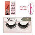 2019 New 10 Pairs 3D Faux Mink Lashes 100 Human Hair Flash Eyelashes Extensions