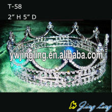 Full Round Rhinestone Princess Crowns For Sale