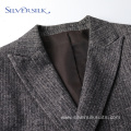 Double Breasted Mens Slim Fit Suits Worsted Jacket