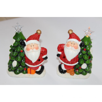 17CM Multi-color ceramic ornaments with LED