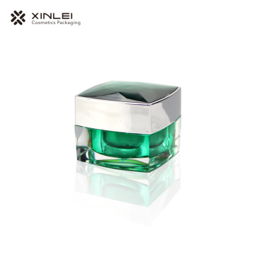 15 g Luxury Square Cosmetic Acrylic Jar