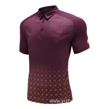 Mens Dry Fit Rugby Wear Polo Shirt Plaid