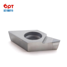 PCD tipped lathe dovetail inserts for stainless steel