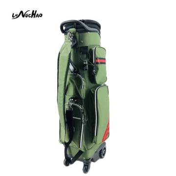 Manufacturer price Custom LOGO Cool Adult Nylon Golf Bags with Four Wheels