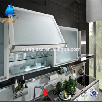 4mm 5mm Frosted Tempered Glass For Kitchen Cabinet