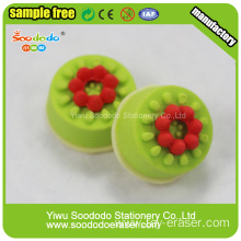 birthday cake shaped rubber erasers cute design for kids