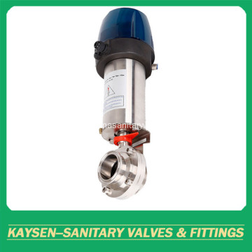DIN Hygienic Intelligent Pneumatic Clamped Butterfly Valve