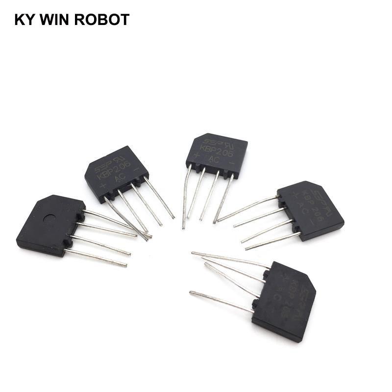 5PCS 2A 600V DIP-4 diode bridge rectifier KBP206