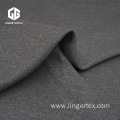 Dark Heather Grey Cationic Poly Interlock Knitted Fabric