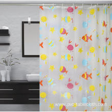 Waterproof Bathroom printed Shower Curtain and Liner Set