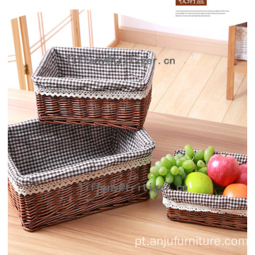 Wholesale custom willow material hottest sale wicker basket for desk