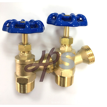 3/4'' Brass angle drain boiler valve with steel wheel