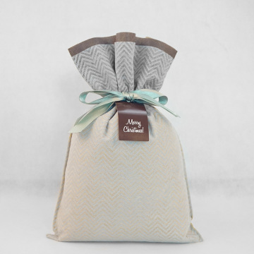 Medium Khaki Personalized Non-woven Gift Bags