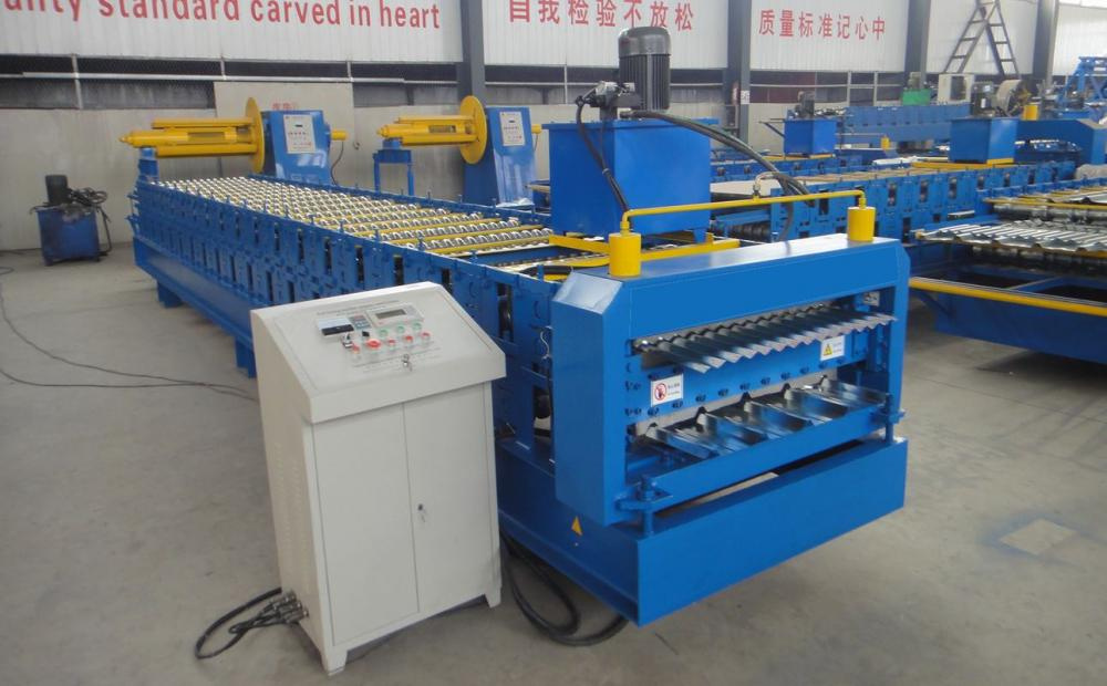 Colored Roof Sheet Tile Rolls Forming Machine