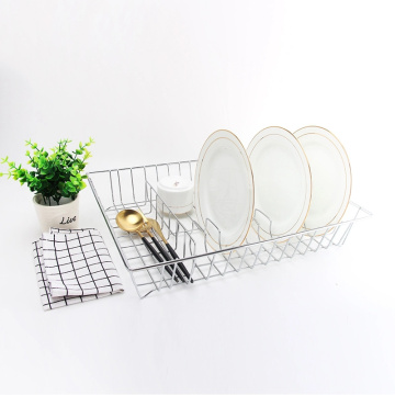 Stainless Steel Design Hollow Home Drainer Dish Rack