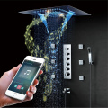 Rainfall Waterfall LED Shower Head Music Shower Faucet