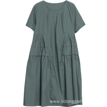Women Loose Linen Big Size Casual Dress