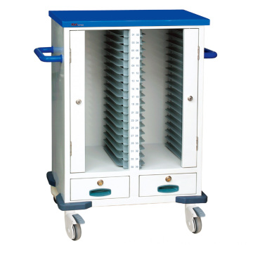 Hospital Steel Ward Nursing Medical Record Trolley