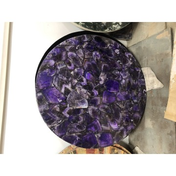 Amethyst purple side table top