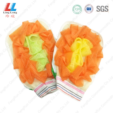 Shine mesh sponge gloves pad