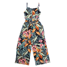 Ladies viscose print overalls