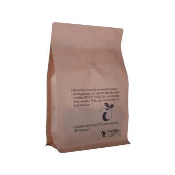 biodegradable Kraft paper packaging ziplock coffee bags with window