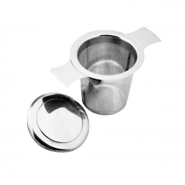 stainless steel tea strainer with plate