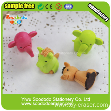 zoo series animal rubber novelty 3D erasers