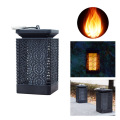 Solar Lantern Lights Dancing Flame Waterproof Outdoor Hanging Lantern Solar Powered Umbrella LED Night Lights Dusk to Dawn Auto