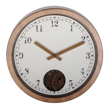 12 inch Antique Wall Clock with gears