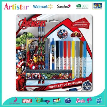 Avengers 16 piece stationery set