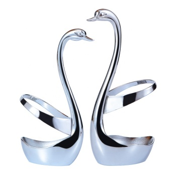 Swan Shape Stainless Steel Flatware Base Holder