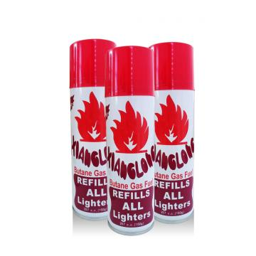 long lasting aerosol butane lighter gas refillable