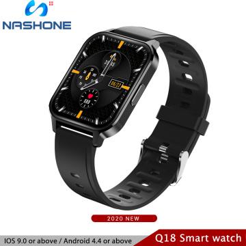 Smart Watch Women Man Silicone Straps Smart Watch 1.7 Screen Fitness Bracelet Massive Dial Wrist Fashion Watch 2020 Smart Band