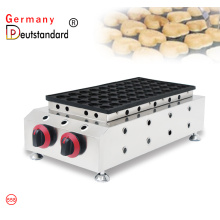 Commercial gas dutch poffertjes grill