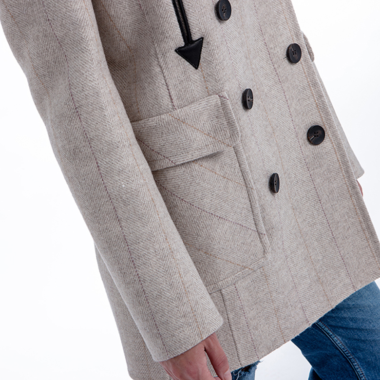 Close-up of a New Pure Cashmere Coat