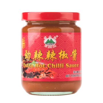 Home Chili Sauce in Glass Bottles