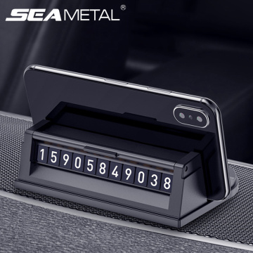 Car Temporary Parking Card Auto Dashboard Phone Holder For Car Parking Plate Hidden Number Telephone Support Stand Accessories