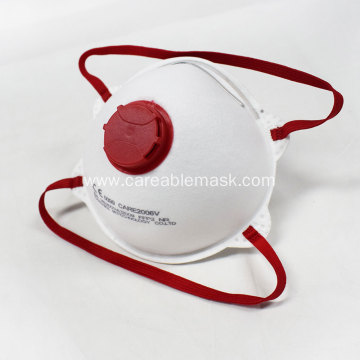 FFP2 कप Safety मास्क Valved Head band CE