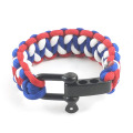 Womens Men's Survival 3 Color Paracord Bracelet