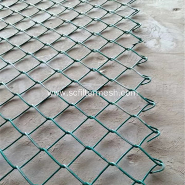 Green PVC Chain Link Sport Field Fence