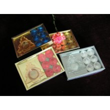 Gift Box of Metallic Finish Tealight Candle