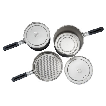Outdoor pure titanium frying pan