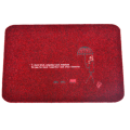 Factory wholesale Red Polyester Embroidered Door mat