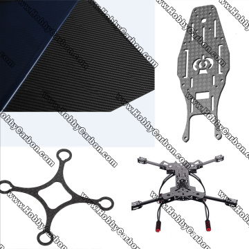 CNC cutting 3K carbon fiber plates for drone